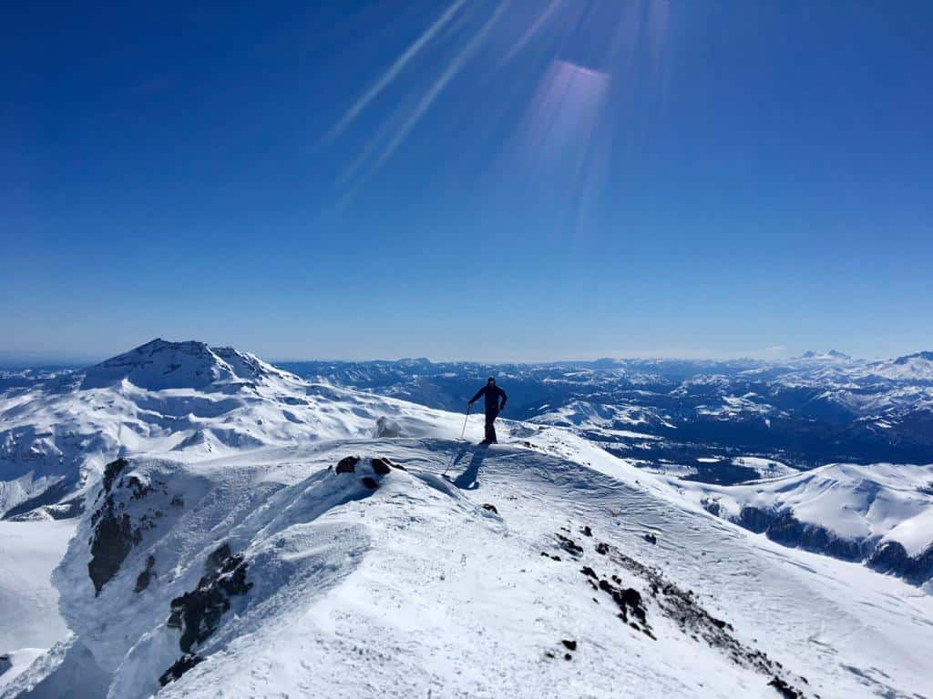 chile skiing corraclo