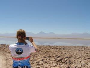 cejar lagoon atacama desert