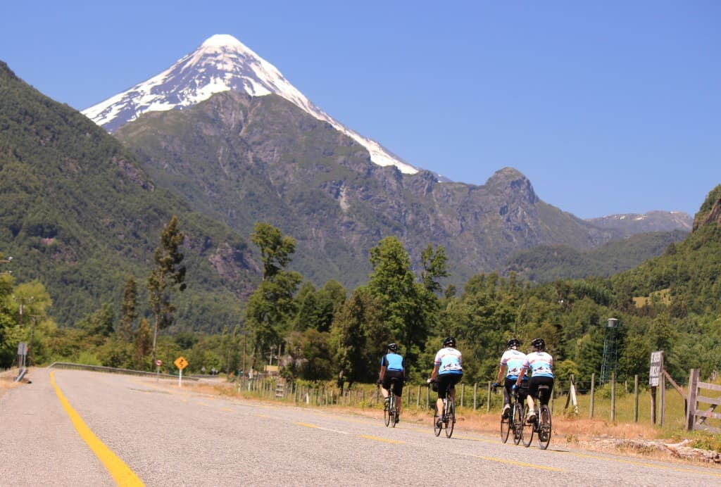 Villarrica National Park Ride - Lanin Volcano at sight