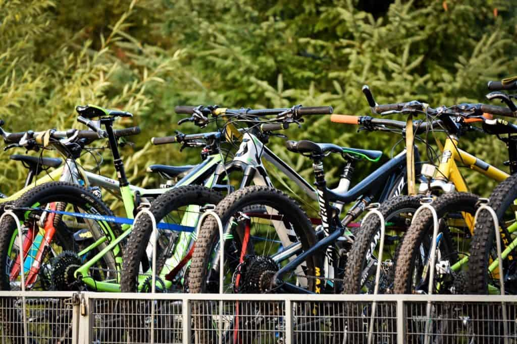 Mountainbikes on trailer