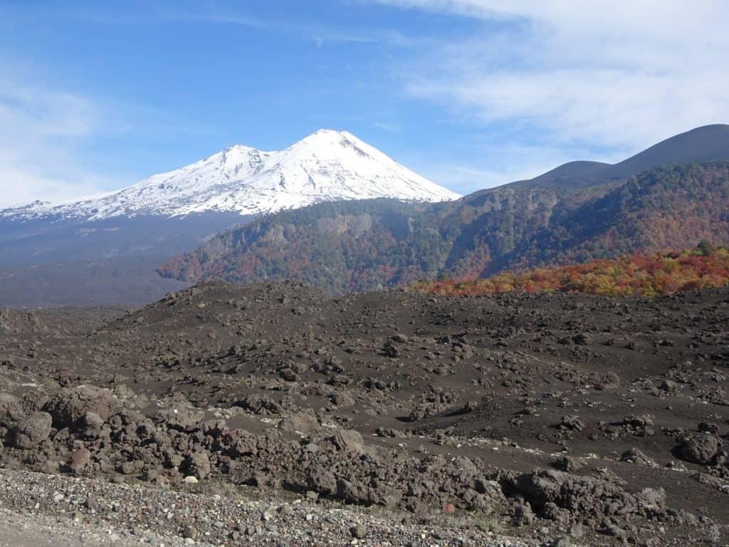 llaima volcano conguillio national park chile