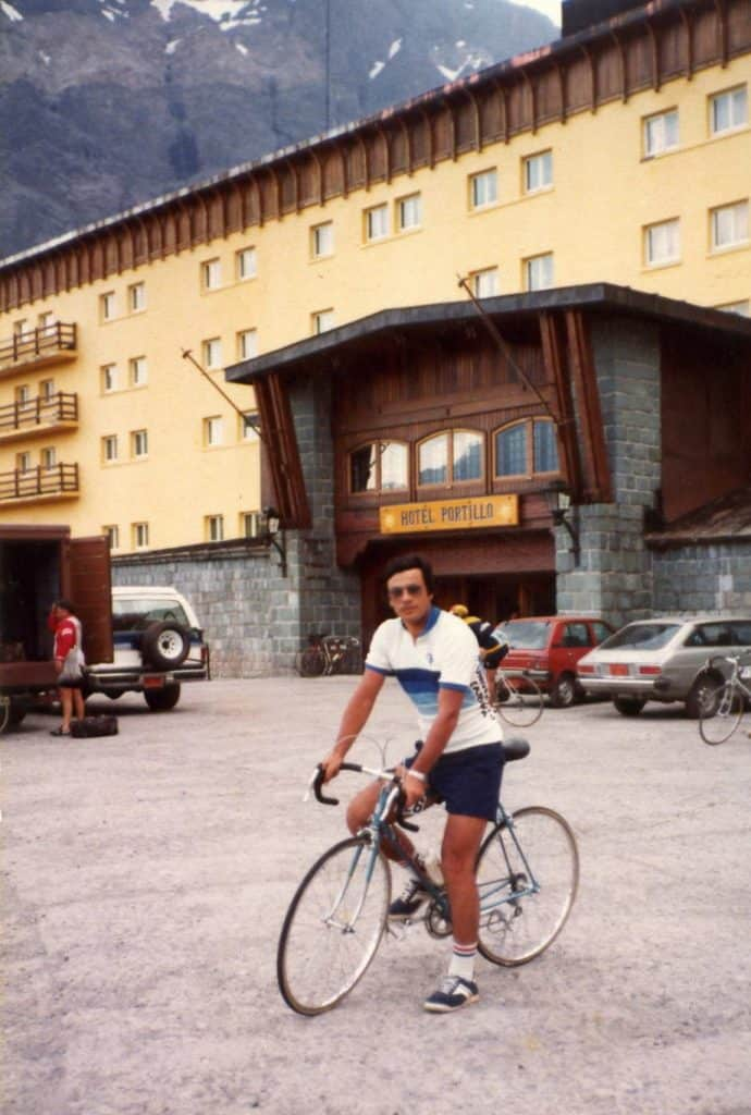 Cyclist Alejandro Levy