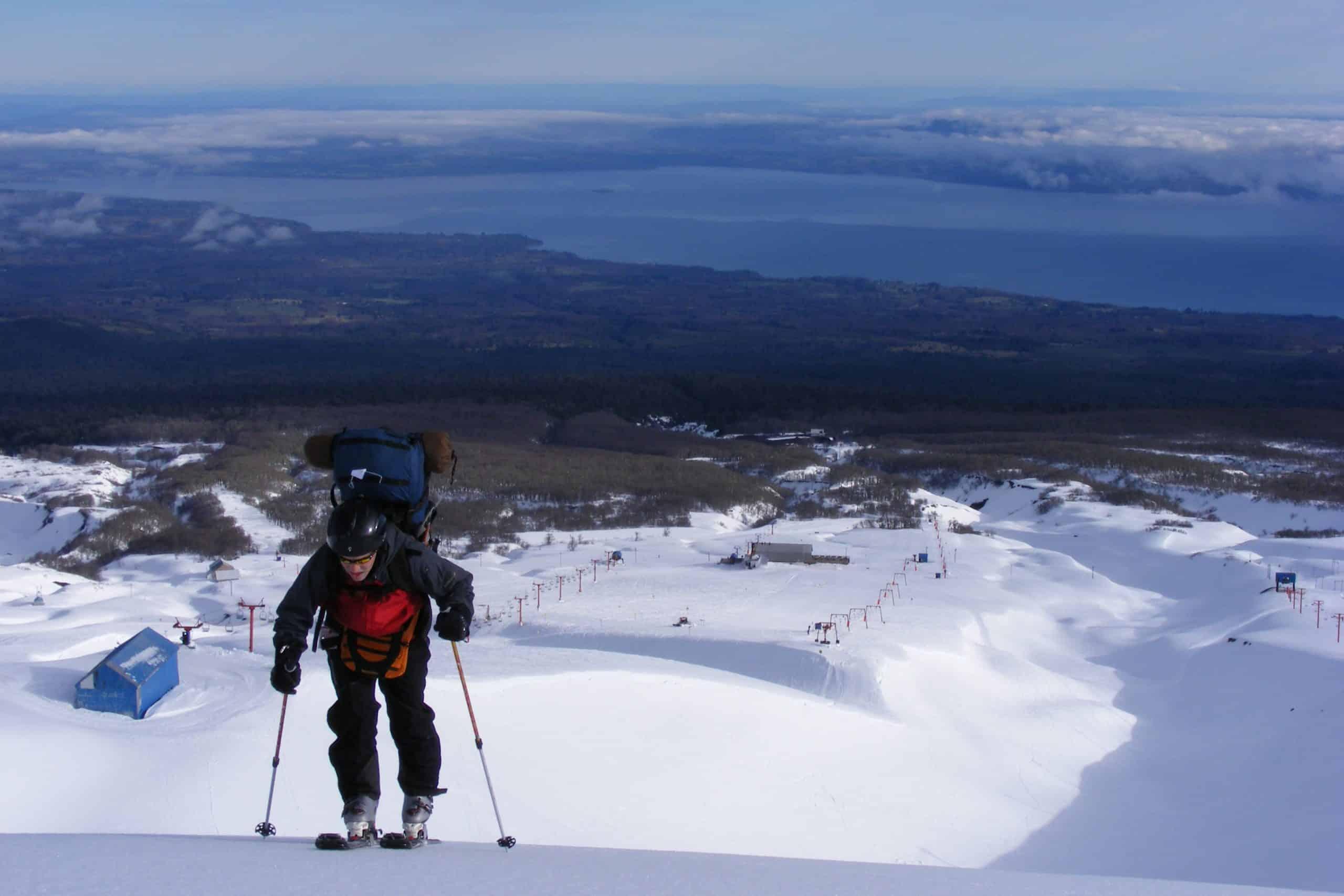 ski Pucon villarrica volcano
