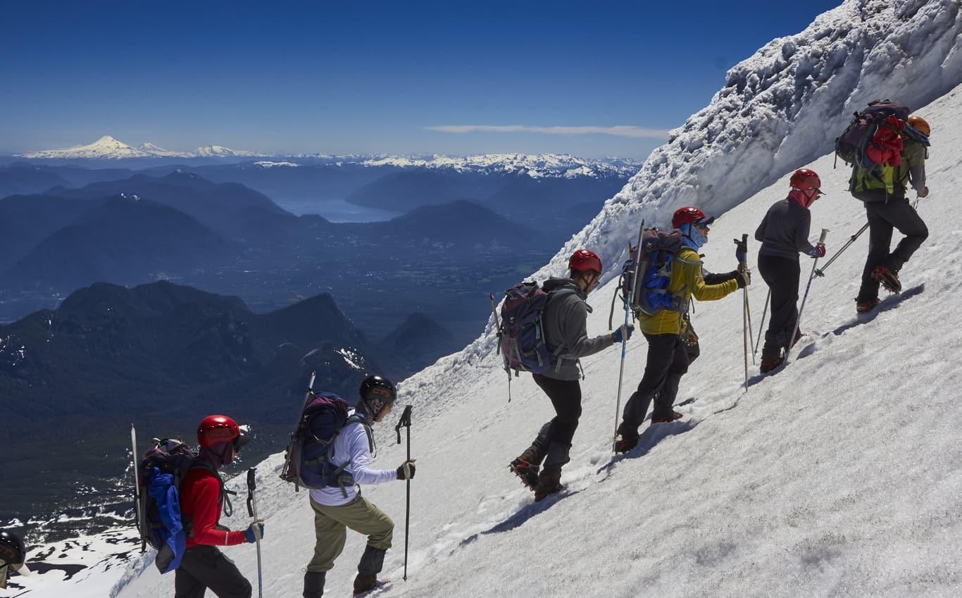 villarrica volccano climb