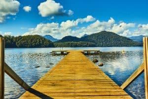 Lake boat pier
