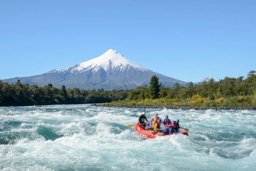 White-water rafting - Petrohue river