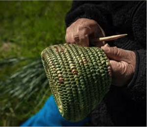 basket weaving kawesqar women