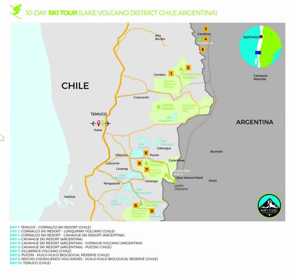 ski tour chile argentina