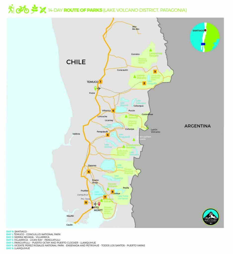 route of parks chile