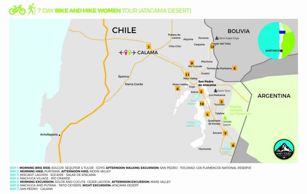 women tour atacama chile