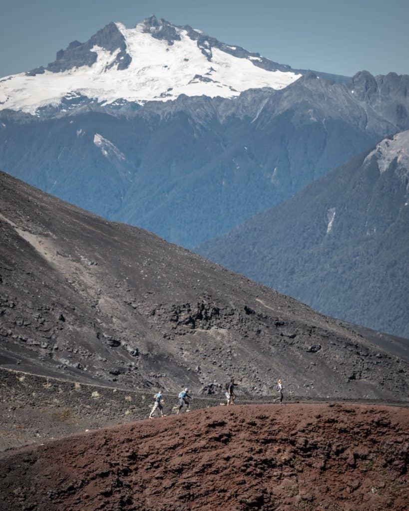 crater rojo trail osorno