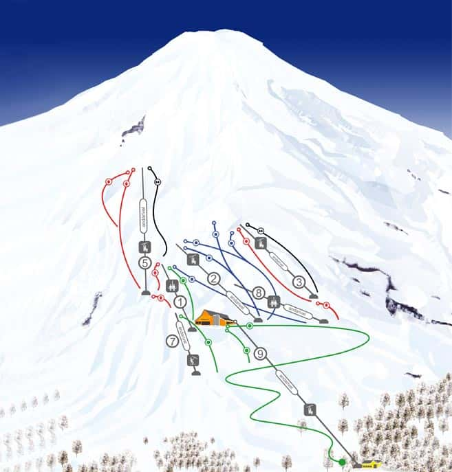 ski map pucon