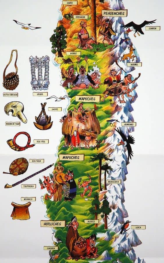 mapuche map